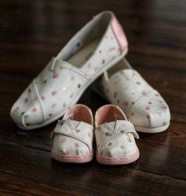 Classic Women Shoes Toms - Pale Blush Metallic Party Dots