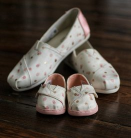 Tiny Toms Crib Classic - Pale Blush Party Dot