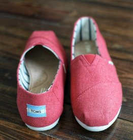 TOMS Classic Women Shoes Toms - Apple Red Heritage Canvas