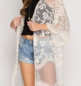 Back By Midnight Lace Cardigan - Cream