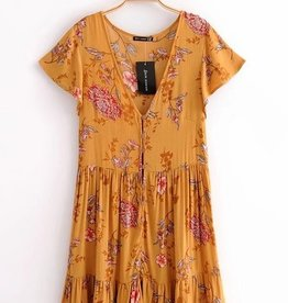 Dreaming Of A New Day Dress - Yellow