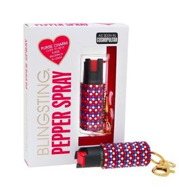 Pepper Spray- Red, White & Blue Rhinestone
