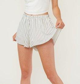 No Comparison Woven Shorts- Ivory/Black
