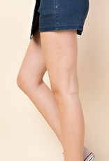 Check It Off Skorts - Dark Denim