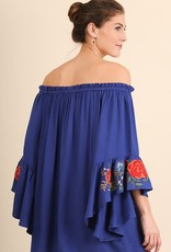 When The Leaves Fall Dress- Royal Blue