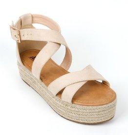 Sofie Platform Sandal - Natural