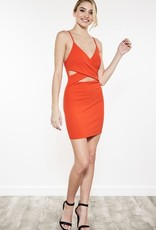 Check It Off Dress- Red