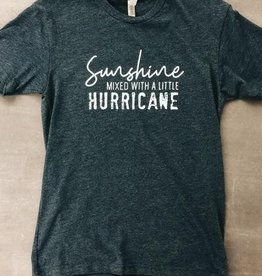 Sunshine with Hurricane Graphic Tee - Midnight Navy