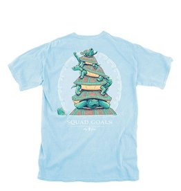LG Squad Goals Turtles- SS- Chambray