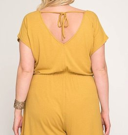 Sunset Wishes Romper- Mustard