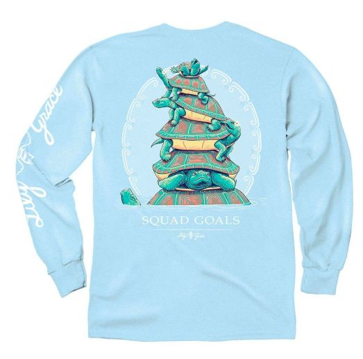 LG Squad Goals Turtles- LS- Chambray