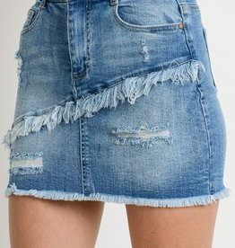 All Shook Up Mini Skirt- M. Wash