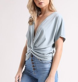 The Best Of What's Around Reversible Top - Dusty Mint
