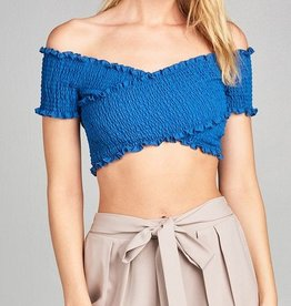 Going Rogue Crop Top - Marina Blue