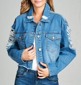 Ya Snooze Ya Lose Denim Jacket - Blue