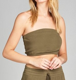 Truthful Tube Top - New Olive