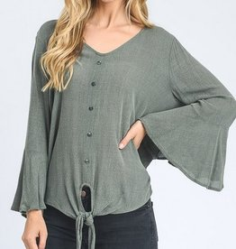 Lovely Bird Top - Olive