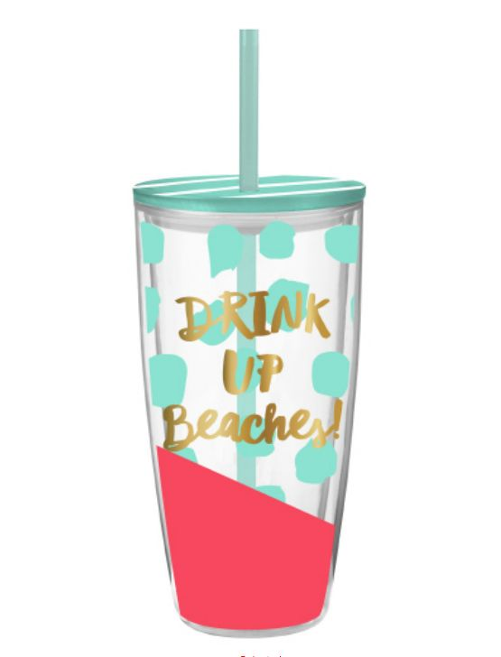 Travel Tumbler 22oz.- Drink Up Beaches
