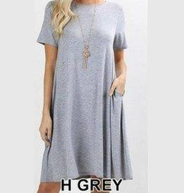 I'm So Basic Dress - H. Grey