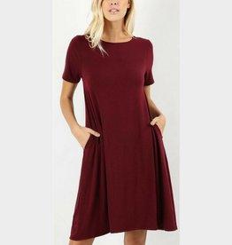 I'm So Basic Dress - Dk Burgundy