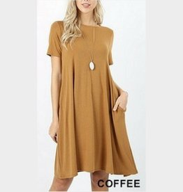 I'm So Basic Dress - Coffee