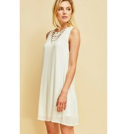 Pretty Dayz Shift Dress- White