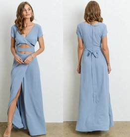 Thrilled To Chill Dress - Chambray