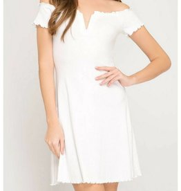 Off To Brunch Dress- Off White