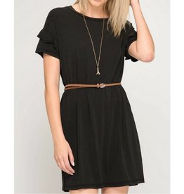 Keeping It Cozy Dress- Black