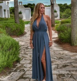 My Heart Is An Open Book Maxi Dress - Chambray