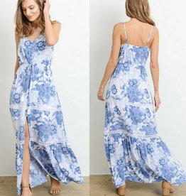 Take A Leap Of Faith Maxi Dress - Blue
