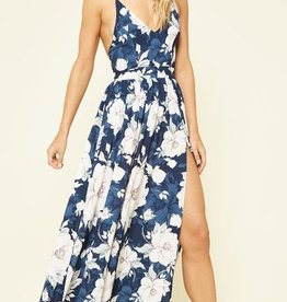 Living A Dream Maxi Dress - Navy