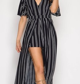 Better Without You Romper- Navy