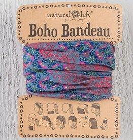 Boho Bandeau - Grey & Red