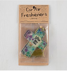 Air Freshener Bless Car Cross (Jasmine)