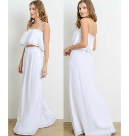 Feel The Rain Skirt - White