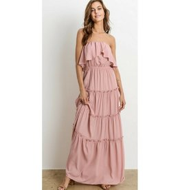 Delta Dawn Strapless Maxi Dress - Rose
