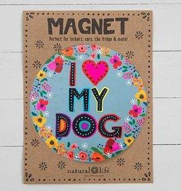 Car Magnet I Heart My Dog