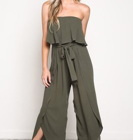 Hot Number Jumpsuit- Olive