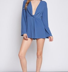 Beyond Obsessed Romper- Denim