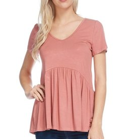All Ruffled Up Blouse - Brick
