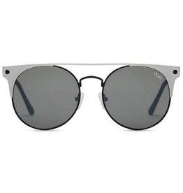 QUAY The In Crowd Sunglasses - Black Silver/Smoke Lens