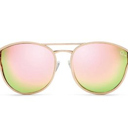 QUAY Cherry Bomb Sunglasses - Rose Gold/Pink