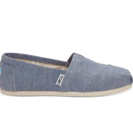 TOMS Classic Slip On Blue Slub Chambray
