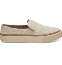 TOMS Women's Sunset Slip-ons- Natural Slubby Cotton