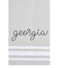 Embroidery Statement Tea Towel- Georgia