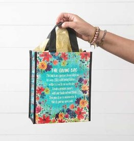 Giving Bag Recycled Bag- Blue Floral