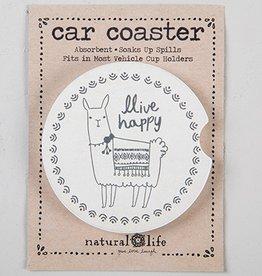 Car Coaster- Happy Llama