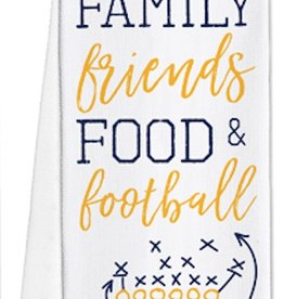 Game Day Tea Towels - FFF&F - Navy/Yellow