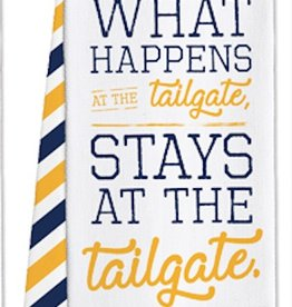 Game Day Tea Towels - Tailgate - Navy/Yellow